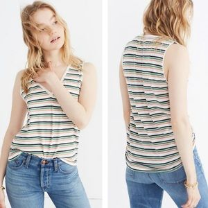Madewell NWT Whisper Striped Cotton Tank Top M